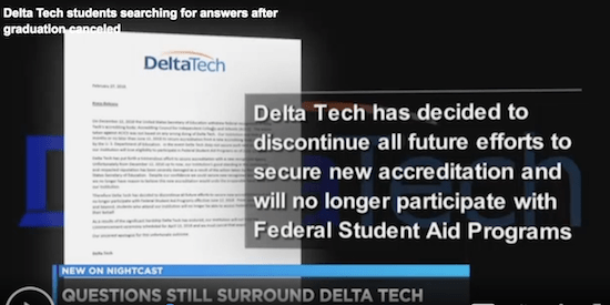 For-Profit College's Bizarre Explanation for Shutting Out Students