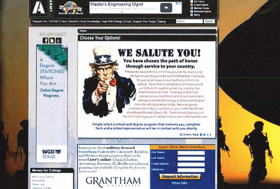 Scam Websites Tried to Trick Military Recruits Into Entering For-Profit Colleges