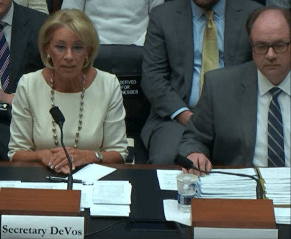 Advocates Demand Devos Protect Students >> Devos Takes A Page From Trump Blame Obama Republic Report