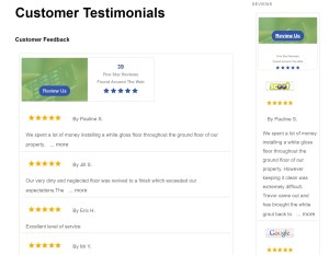 Customer Testimonial Widgets