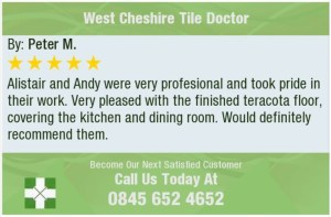 West Cheshire Tile Doctor Feedback Graphic