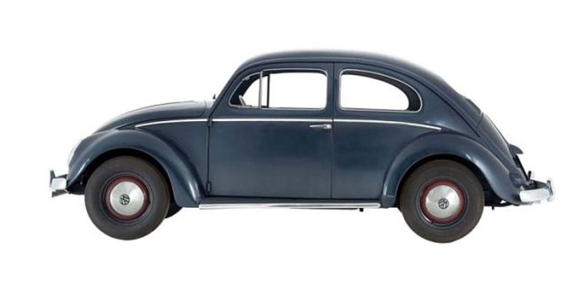 Volkswagen Beetle at the British Museum exhibition 'Germany: Memories of a Nation - A 600-year history in objects'