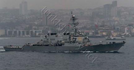 DDG75, adică distrugătorul USS Donald Cook