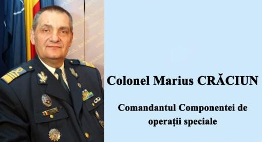 Colonel Marius Craciun - Comandantul Componentei de Operatii Speciale