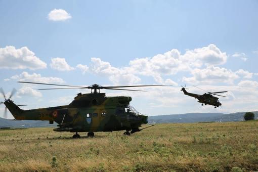 Elicoptere Puma SOCAT - Cursul pentru jurnalistii care transmit din zona de conflict
