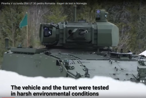 Piranha V cu turela Elbit UT30MKII pentru Romania - trageri de test