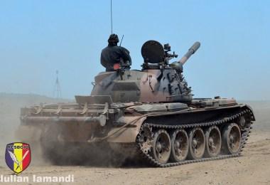 T-55 in poligonul Babadag - Saber Guardian 19
