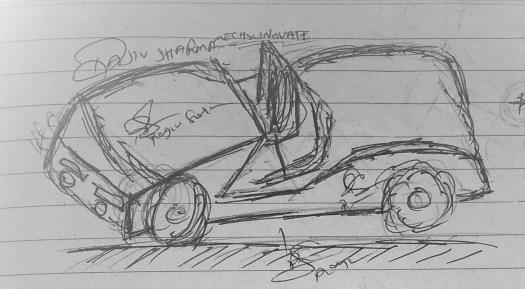mECHsCINOVATE car draw step3