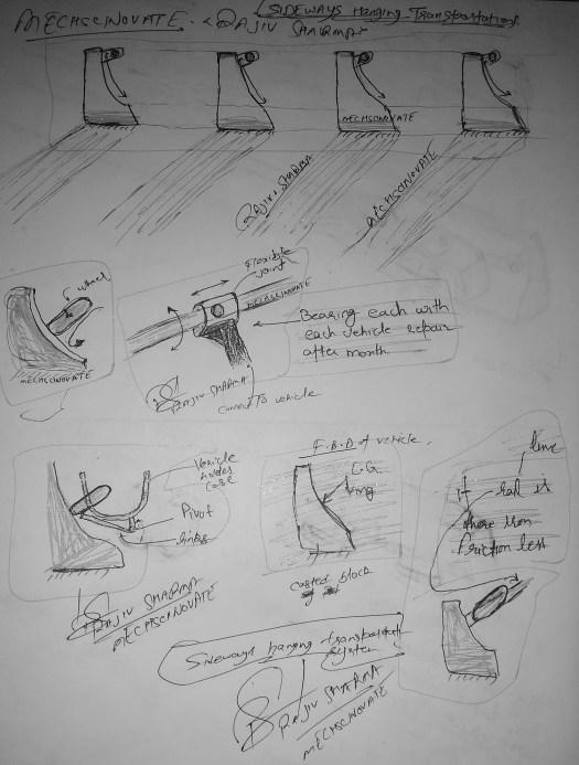 Mechscinovate, Rajiv. S, 'Sideways hanging transportation'2.