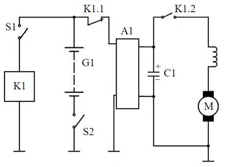 schematic electrical diagram of starting system k1 – the