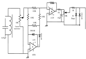 Circuit diagrams of the current transformer and precision