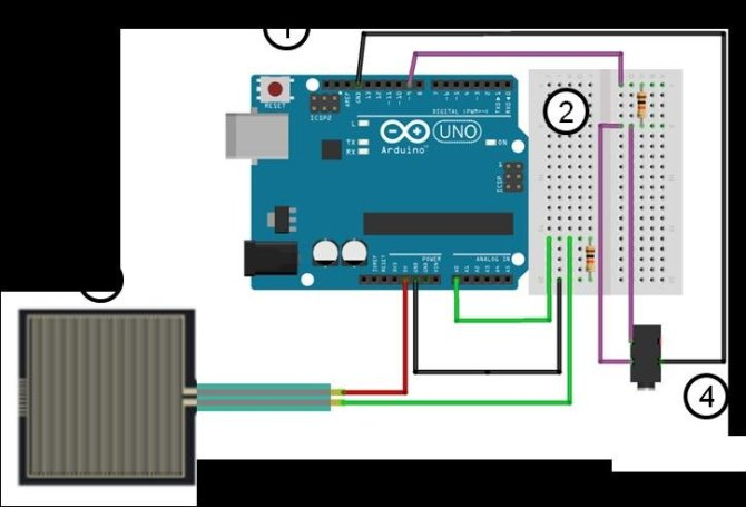 schematic of wiring diagram for the arduino pwm setup