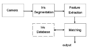 Block diagram of a general iris recognition system