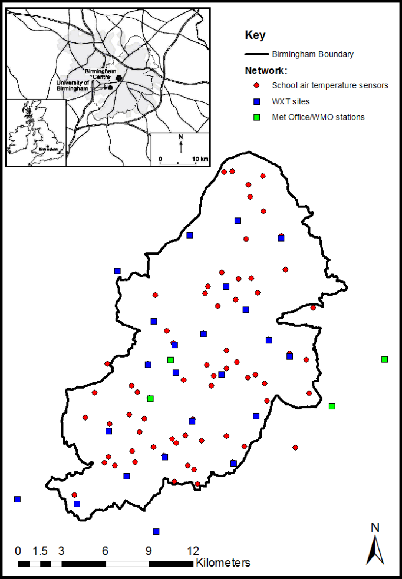Figure 1 bucl sites automatic weather stations and air temperature sensors locations