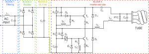 Typical Compact Flash Lamp Ballast Circuit [10,15] Compact Fluorescent | Download Scientific