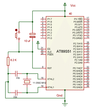 8051 Microcontroller with basic connection It is a full static CMOS | Download Scientific Diagram