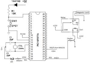 Schematic diagram of door lock system | Download Scientific Diagram