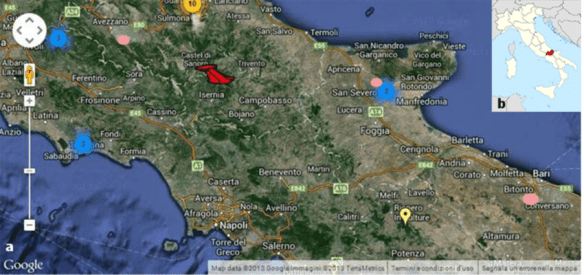 a  Map of Italy with the enlightened Molise region  Image from     a  Map of Italy with the enlightened Molise region  Image from  https