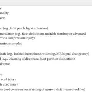 Subaxial injury classification scale | Download Scientific