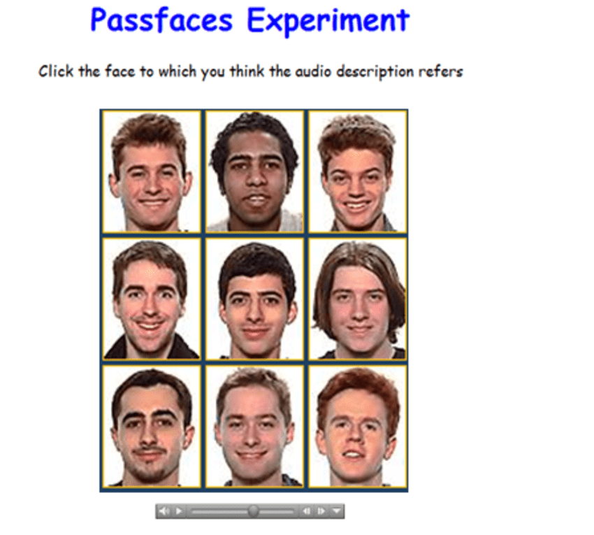 The Passfaces Challenge For The Description Study Participants Were Required To Select The Face To