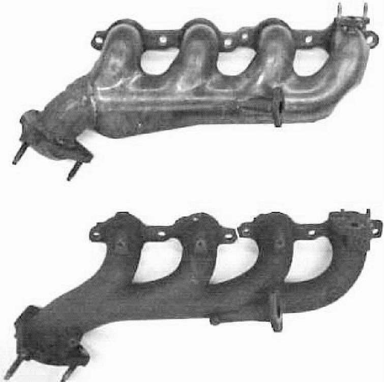 modified gm air gap exhaust manifold