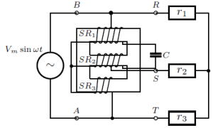 Practical circuit of singlephase to threephase converter
