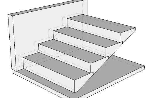 Illustration Of Cantilevered Stone Stairs With A Plain Treads   Cantilever Staircase Structural Design   Steel   Structure   Metal   Exposed Brick Wall   Wood