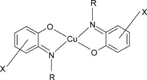 Chemical structure of copper(II) plexes of salicylideneaniline | Download Scientific Diagram