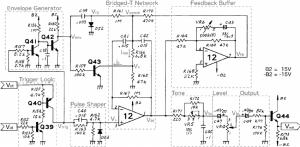 TR808 bass drum schematic, blocks marked (adapted from [1]) | Download Scientific Diagram