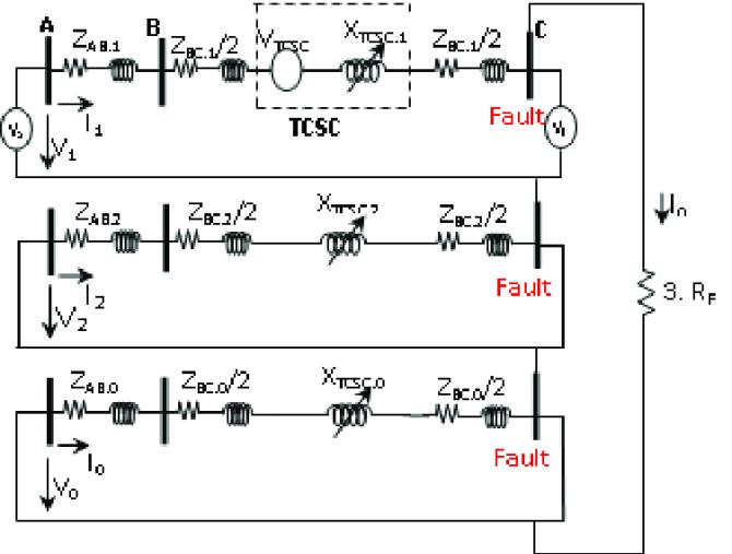 equivalent circuit diagram of the singlelinetoground
