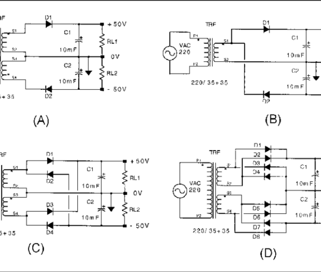 Different Topologies Of Symmetrical Rectifier Circuits Analyzed In This Paper A Symmetrical Half Wave