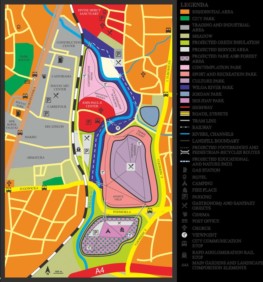 The Concept Of Land Development Of Former Krakow Soda Works Solvay Download Scientific Diagram
