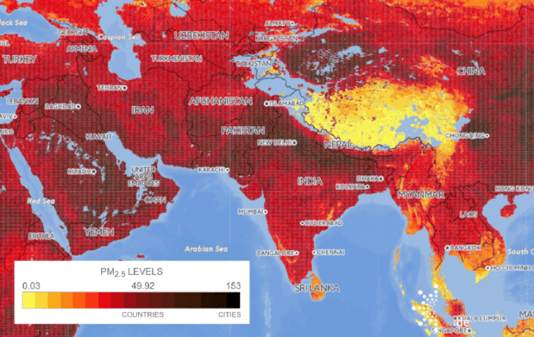 Interactive map of air pollution  pairing ground based and     nteractive map of air pollution  pairing ground based and satellite derived  PM2