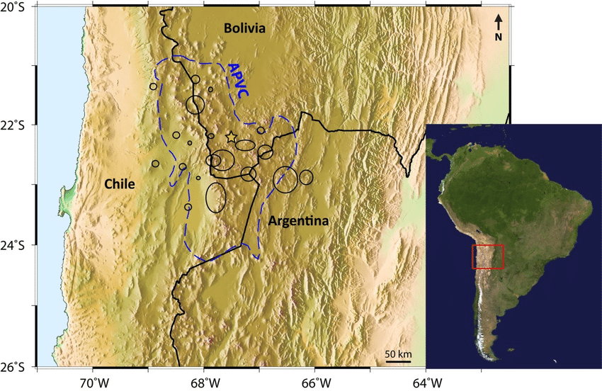 A topographic map of the study area in the Central Andes  The inset     A topographic map of the study area in the Central Andes  The inset map