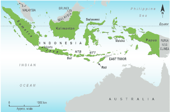 Map Of Indonesia And Neighbouring Countries With Location Of Roti Island Download Scientific Diagram