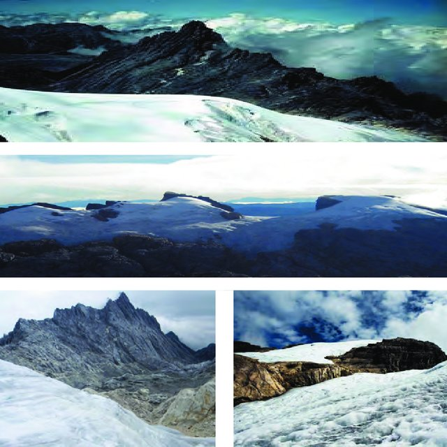 4 Mountains Covered With Snow In Indonesia Carstensz Pyramid 4884m Download Scientific Diagram