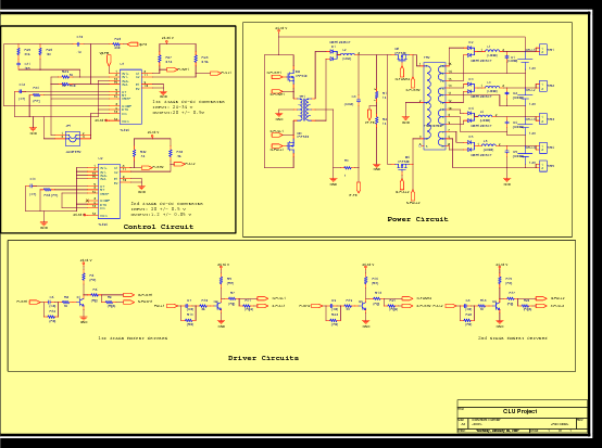 wiring diagram of the control driving and power circuits of