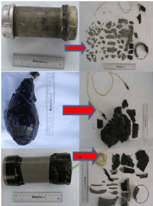 Different types of IED bombs and bomb fragments collected after the | Download Scientific Diagram