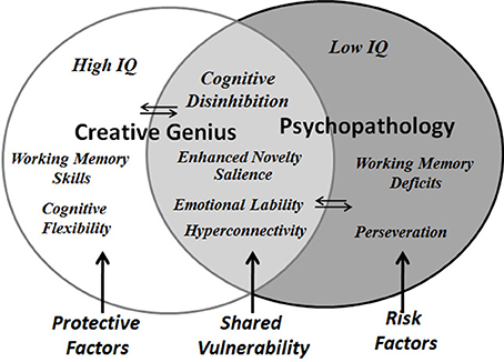 Image result for shared vulnerability model of the relation between creativity and psychopathology