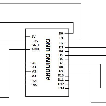 circuit diagram for connecting the microcontroller arduino