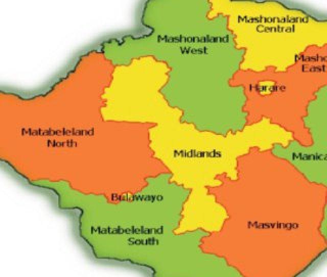 Map Of Zimbabwe Showing Countrys  Provinces