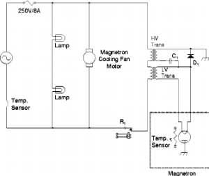 Schematic diagram of the magron operation circuit in a