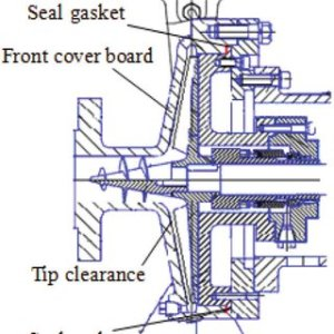 Meridional profile of unshrouded centrifugal pump with tip