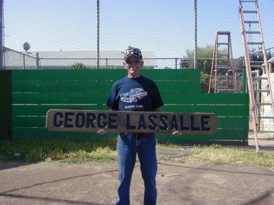 George Lassalle at the Ashland Little League Senior Field Dedication, 2003