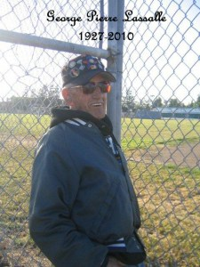 My Dad in one of his favorite baseball jackets at Little League