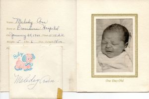 melody birth announcement pg2237