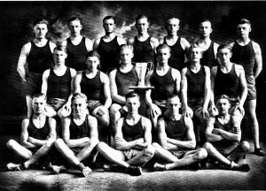 Mission High 1924 Track Team Bourne