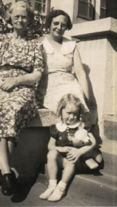 Who is this woman sitting with my mom and her grandmother, Margaret (Jones) Jackson?