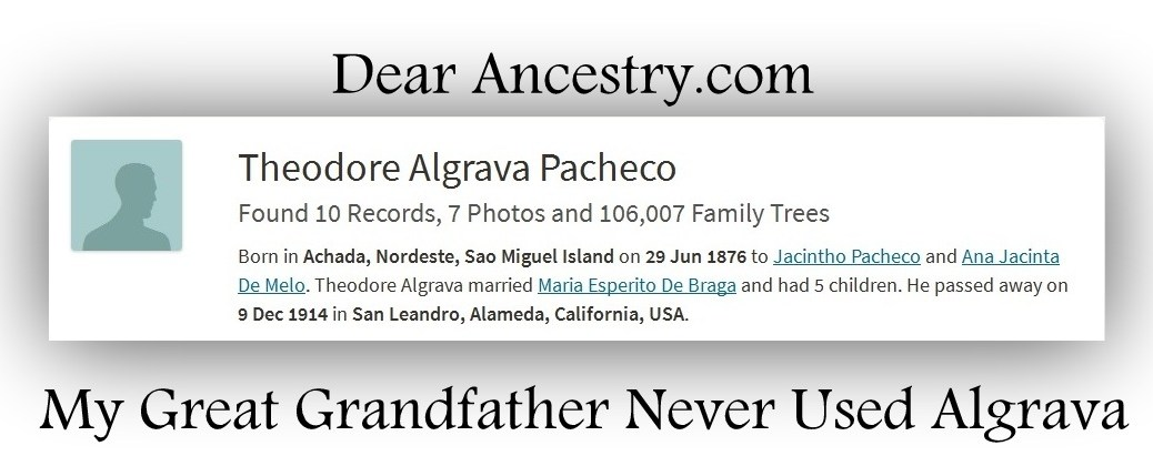Ancestry.com search results