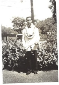 Unknown young man dressed up